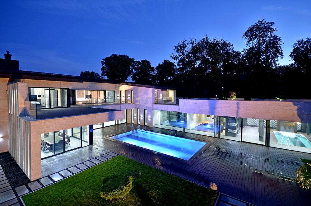 modern mansion in Budapest
